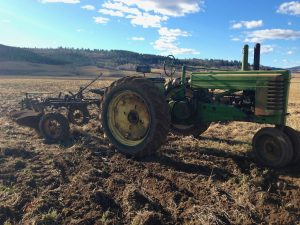 John Deere A With 55 H Plow